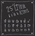 draw drink icons set vector image vector image