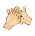 drawing hand man clap gesture icon vector image vector image