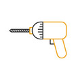 drill construction isolated icon vector image vector image