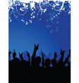 Excited crowd vector image