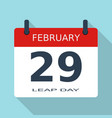 february 29 leap day year flat daily icon eps vector image vector image