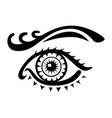 female eye logo on white background vector image