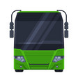 front view green bus public transportation vector image
