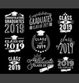 graduation wishes monochrome overlays lettering vector image