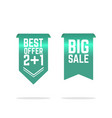 green sales labels vector image vector image