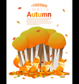 Hello autumn background with foxes 2 vector image vector image