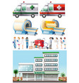hospital and medical elements vector image