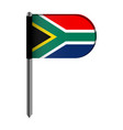 isolated flag of south africa vector image vector image