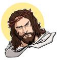 jesus portrait vector image vector image