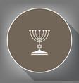 jewish menorah candlestick in black silhouette vector image vector image