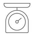 kitchen scale thin line icon kitchen and cooking vector image vector image