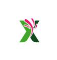 letter x logo symbol design template elements vector image vector image