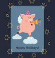 new year greeting card 3 vector image vector image