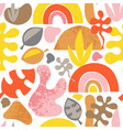 organic shapes seamless background vector image vector image