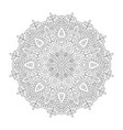 ornamental mandala on white vector image