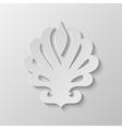 Paper Fleur de lis vector image vector image