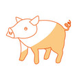 pig farm animal vector image vector image