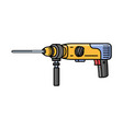 puncher construction electric tool flat style vector image