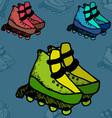 Roller skates fitness footwear free fun vector image