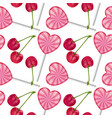 seamless endless pattern with sweet realistic vector image vector image