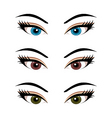 set female eyes isolated 3 vector image