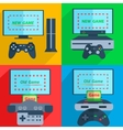 Set game consoles vector image vector image