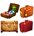 Set of different suitcases vector image vector image