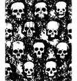 set of hand drawn skulls vector image vector image