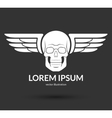 Skull with wings logo emblem icon symbol sign vector image vector image