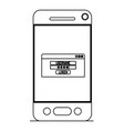 smartphone device with login menu vector image vector image