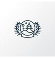 snow globe icon line symbol premium quality vector image vector image