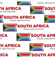 south africa travel destination african flag vector image