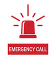 special police flasher light emergency department vector image