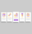 sport nutrition cells onboarding vector image