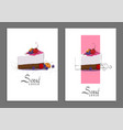 sweet cake cover vector image vector image