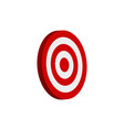 target 3d icon vector image