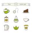 Tea icons set Color vector image vector image