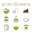 Tea icons set Color vector image