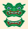 thai giant monster drawing green yuk thailand vector image