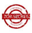 top secret confidential rubber stamp vector image vector image
