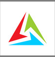 triangle logo abstract color full vector image vector image
