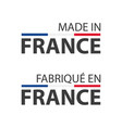 two simple symbols made in france vector image vector image