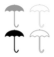 umbrella icon grey and black color vector image vector image