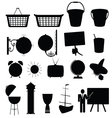 various stuff black silhouette vector image vector image