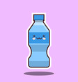 water plastic bottle kawawii sign vector image