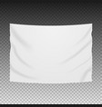 white blank banner textile empty hanging vector image