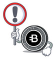 with sign bytecoin coin character cartoon vector image vector image