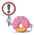 with sign donut character cartoon style vector image vector image