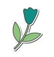 single flower icon vector image