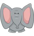 elephant character cartoon vector image